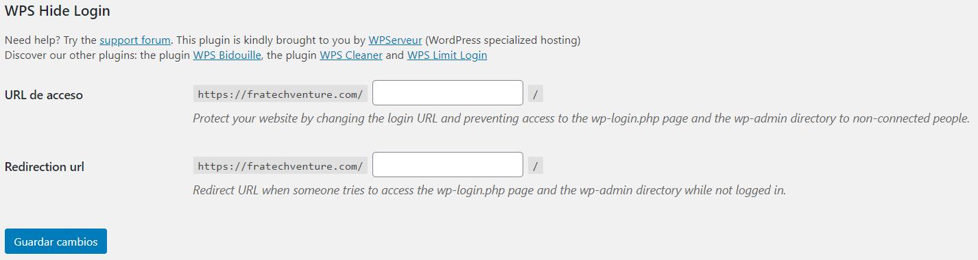 redirección wp admin, cambiar wp admin